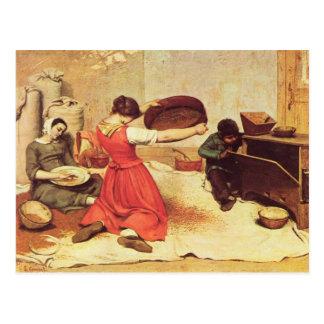 Gustave Courbet - los tamices del grano Postal