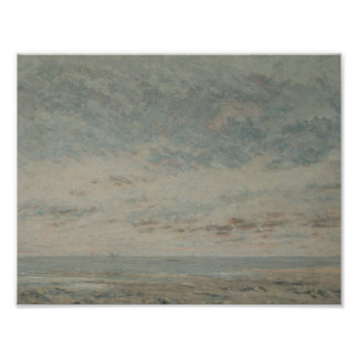 Gustave Courbet - Low Tide at Trouville Poster