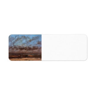 Gustave Courbet- Low Tide Return Address Label