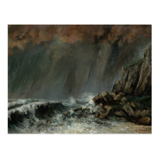 Gustave Courbet - Marine: The Waterspout Postcard