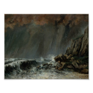 Gustave Courbet - Marine: The Waterspout Poster