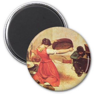 Gustave Courbet Painting 2 Inch Round Magnet