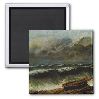 Gustave Courbet Painting 2 Inch Square Magnet
