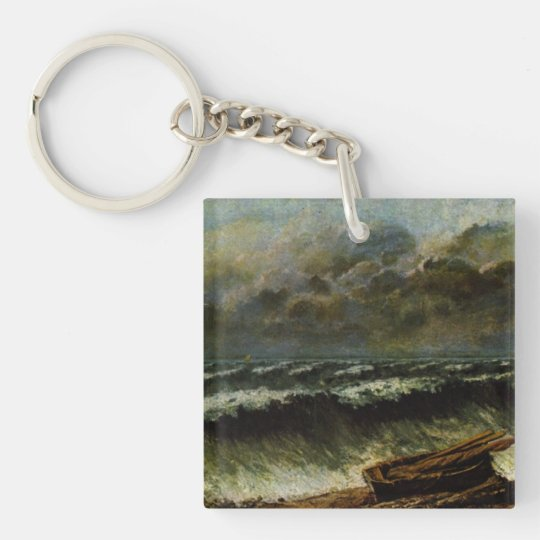Gustave Courbet Painting Keychain
