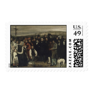 Gustave Courbet Painting Postage