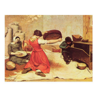 Gustave Courbet Painting Postcard