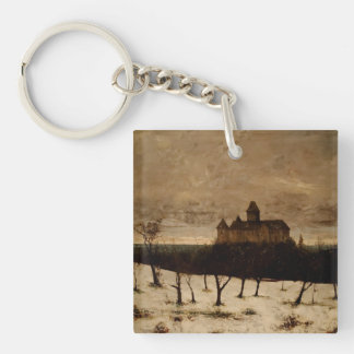 Gustave Courbet Painting Single-Sided Square Acrylic Keychain