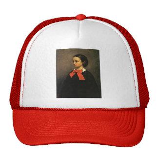 Gustave Courbet- Portrait of Mlle. Jacquet Hats