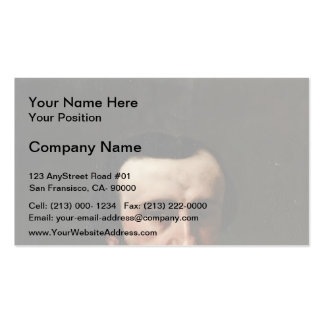 Gustave Courbet- Portrait of Monsieur Nicolle Business Card Templates
