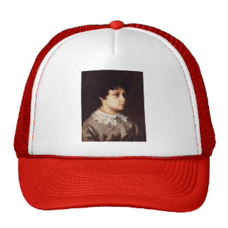 Gustave Courbet-Portrait of Young Girl from Salins Trucker Hat