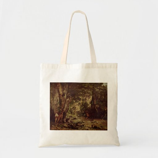 Gustave Courbet-Return of the Deer to the Stream Budget Tote Bag