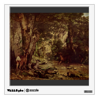 Gustave Courbet-Return of the Deer to the Stream Wall Stickers