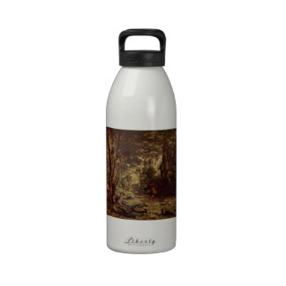 Gustave Courbet-Return of the Deer to the Stream Reusable Water Bottles