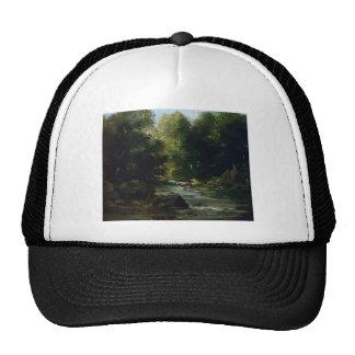 Gustave Courbet- River Landscape Trucker Hat