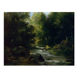 Gustave Courbet- River Landscape Postcard