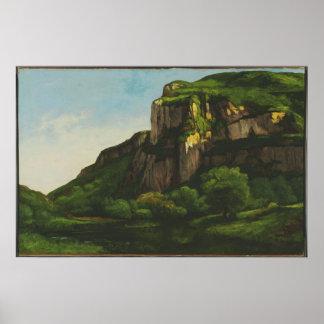 Gustave Courbet - rocas en más gritón Posters