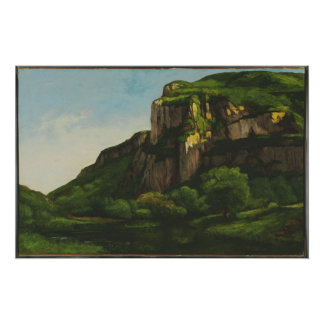 Gustave Courbet - Rocks at Mouthier Poster