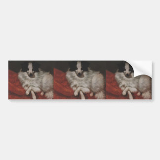 Gustave Courbet- Sitting on Cushions Dog Bumper Sticker