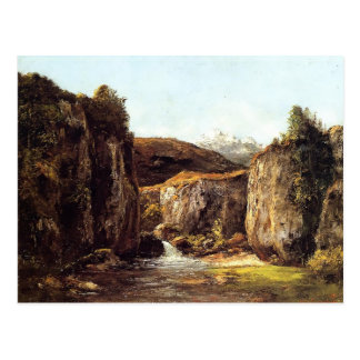 Gustave Courbet- Source among the Rocks of Doubs Postcard