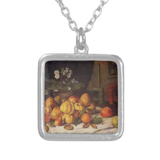 Gustave Courbet- Still Life Apples,Pears & Flowers Custom Necklace