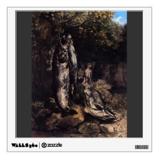 Gustave Courbet- Still Life with Three Trout Wall Decal