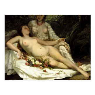 Gustave Courbet - The bathers Postcard