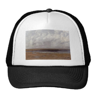 Gustave Courbet-The Beach at Trouville at Low Tide Trucker Hat