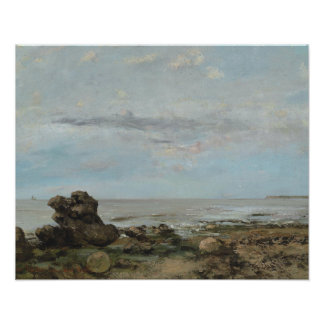 Gustave Courbet - The Beach at Trouville Poster
