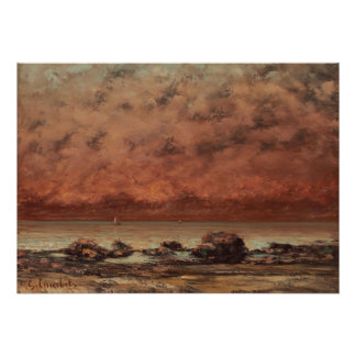 Gustave Courbet The Black Rocks At Trouville Poster