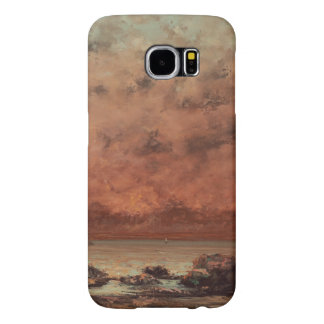 Gustave Courbet The Black Rocks At Trouville Samsung Galaxy S6 Cases