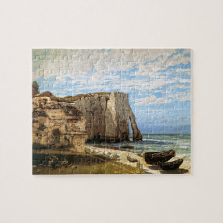 Gustave Courbet- The Cliffs at Etretat Jigsaw Puzzles