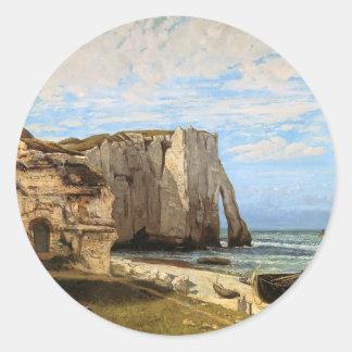 Gustave Courbet- The Cliffs at Etretat Sticker