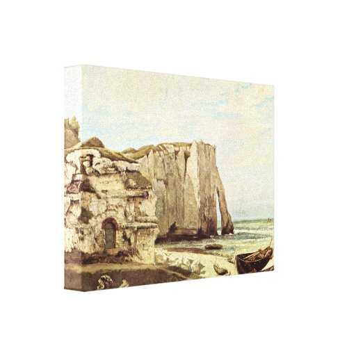 Gustave Courbet - The coast of Etretat Stretched Canvas Print