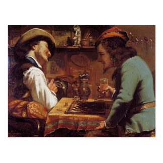 Gustave Courbet- The Draughts Players Postcard