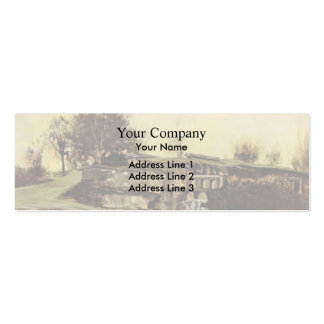 Gustave Courbet- The Flood Gate at Optevoz Business Card Template
