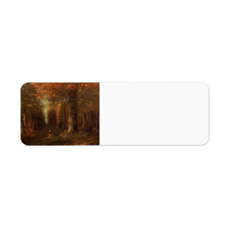 Gustave Courbet- The Forest in Autumn Return Address Label