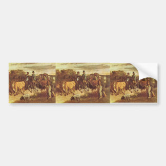 Gustave Courbet- The Peasants of Flagey Returning Bumper Sticker