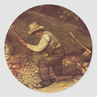 Gustave Courbet- The Stone Breaker Stickers