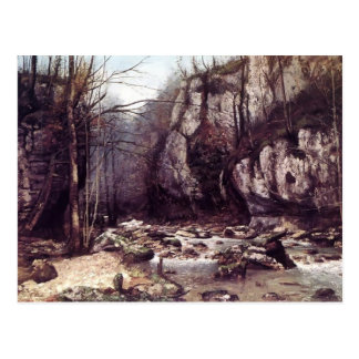 Gustave Courbet-The Stream of Puits Noir,Ornans Postcard