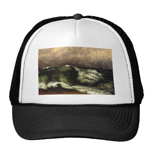 Gustave Courbet- The Wave Mesh Hat