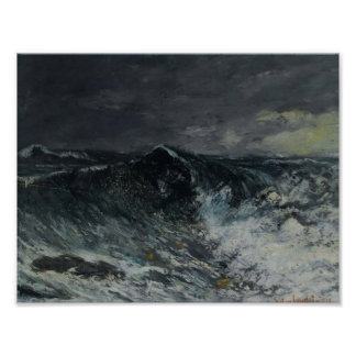 Gustave Courbet- The Wave Poster