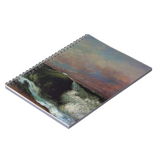Gustave Courbet- The Wave Spiral Notebook