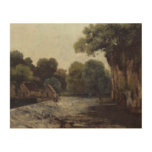 Gustave Courbet - The Weir at the Mill Wood Print