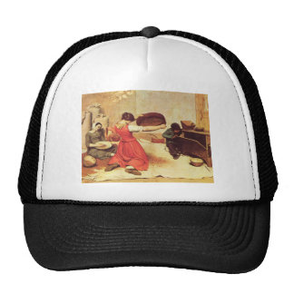 Gustave Courbet- The Wheat Sifters Trucker Hat