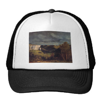 Gustave Courbet- Valley of Loue in Stormy Weather Trucker Hat
