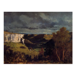 Gustave Courbet- Valley of Loue in Stormy Weather Postcard