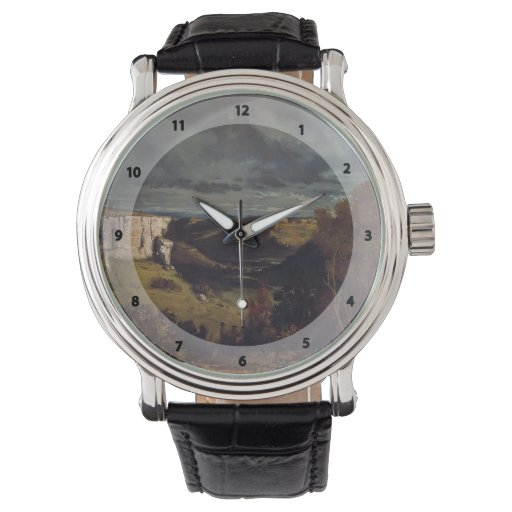Gustave Courbet- Valley of Loue in Stormy Weather Wristwatches