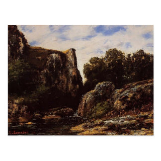 Gustave Courbet- Waterfall in the Jura Postcard