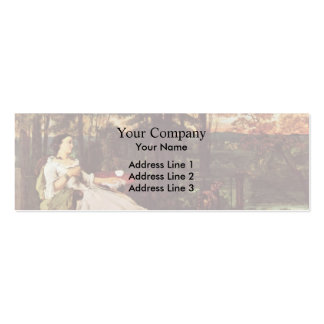 Gustave Courbet- Woman of Frankfurt Business Cards