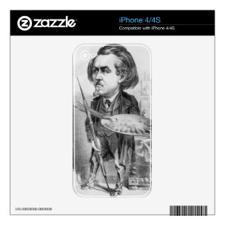 Gustave Dore (1832-83), caricature from 'Le Boulev Decal For iPhone 4
